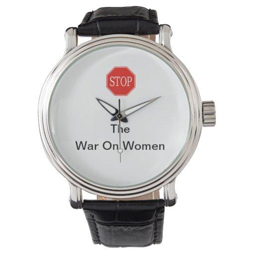 PARE la guerra en el reloj de las mujeres