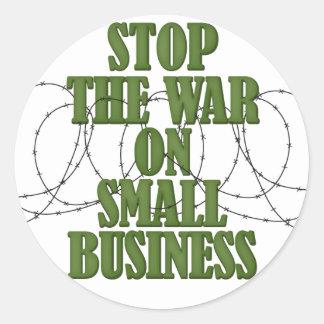Pare la guerra en los pegatinas de la pequeña pegatina redonda