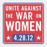 Pare la guerra en los pegatinas de las mujeres