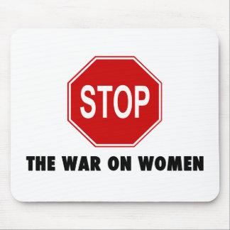 Pare la guerra en mujeres alfombrilla de raton