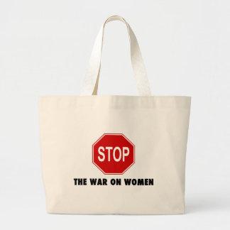 Pare la guerra en mujeres bolsa de tela grande