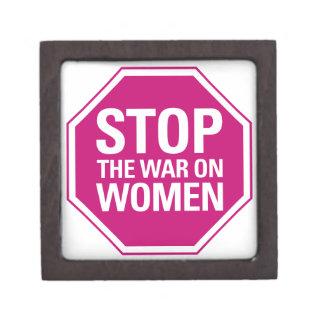 Pare la guerra en mujeres caja de regalo de calidad