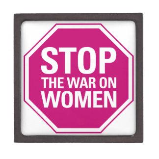 Pare la guerra en mujeres cajas de recuerdo de calidad
