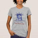 Pare la guerra en mujeres camisetas