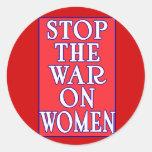 Pare la guerra en mujeres etiqueta