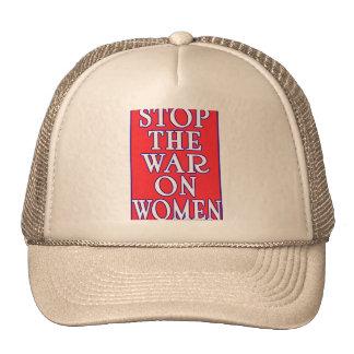 Pare la guerra en mujeres gorras