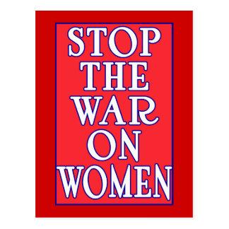 Pare la guerra en mujeres postal