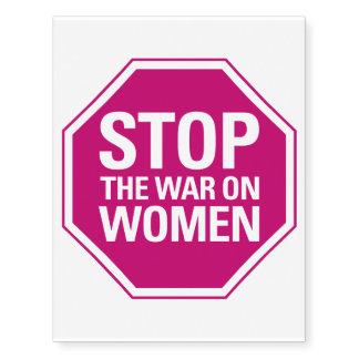 Pare la guerra en mujeres tatuajes temporales