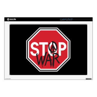 Pare la guerra portátil calcomanía