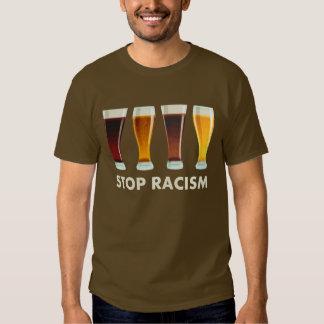 Pare la igualdad de la cerveza del racismo del playera