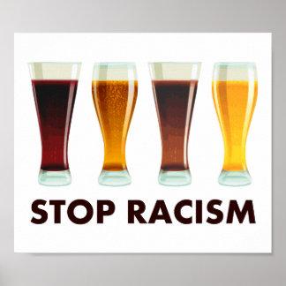 Pare la igualdad de la cerveza del racismo del póster