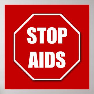 Pare la impresión roja del poster del SIDA