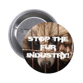 Pare la industria de la piel pin redondo de 2 pulgadas