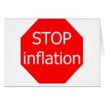 Pare la inflación tarjeta