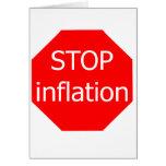 Pare la inflación tarjetas