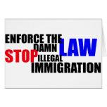 pare la inmigración ilegal felicitación