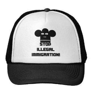 ¡Pare la inmigración ilegal! Gorras