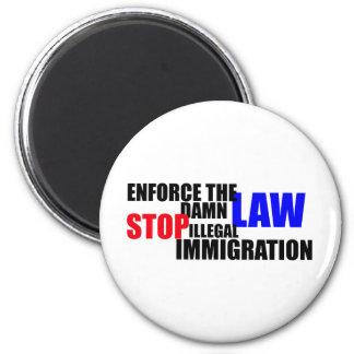 pare la inmigración ilegal imán redondo 5 cm