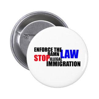 pare la inmigración ilegal pin