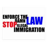 pare la inmigración ilegal postales