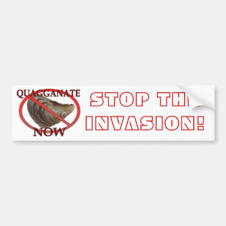 Pare la invasión pegatina para auto