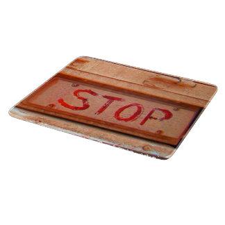 Pare la luz rústica de la cola de la puerta tabla para cortar