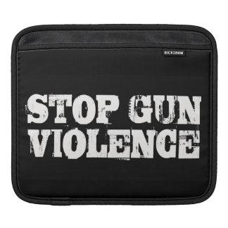 Pare la manga del ordenador portátil de la violenc funda para iPads