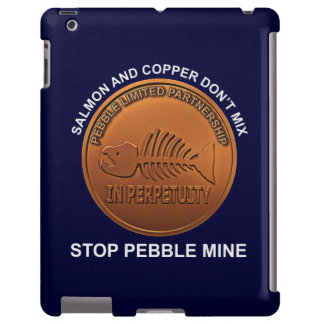 Pare la mina del guijarro - penique de la mina del funda para iPad