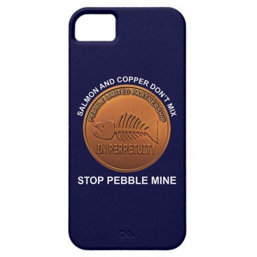 Pare la mina del guijarro - penique de la mina del funda para iPhone SE/5/5s