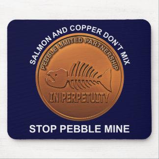 Pare la mina del guijarro - penique de la mina del tapete de ratones