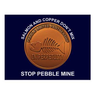 Pare la mina del guijarro - penique de la mina del postales