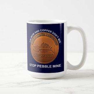 Pare la mina del guijarro - penique de la mina del tazas