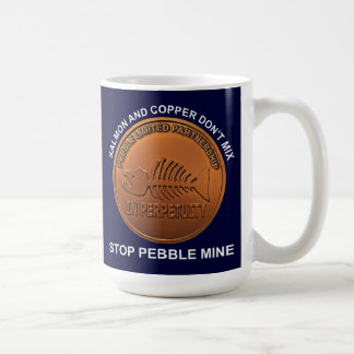 Pare la mina del guijarro - penique de la mina del tazas de café