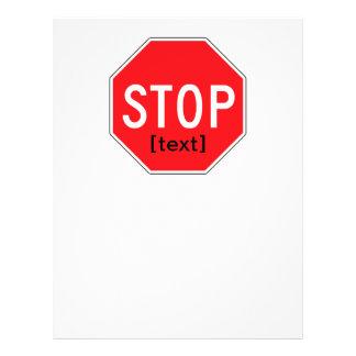 Pare la muestra para una causa tarjetas informativas