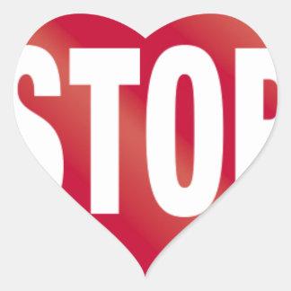 Pare la muestra pegatina en forma de corazón