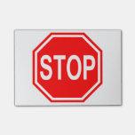 PARE la muestra roja de la parada del icono de la Post-it Nota