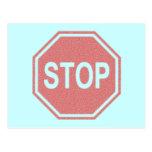 Pare la muestra SE DESCOLORÓ diseño Postal