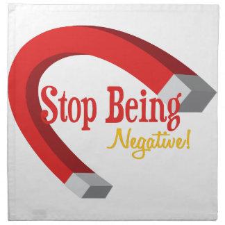 ¡Pare la negativa de Beign! Servilleta De Papel
