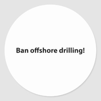 pare la perforación petrolífera en el mar pegatina redonda