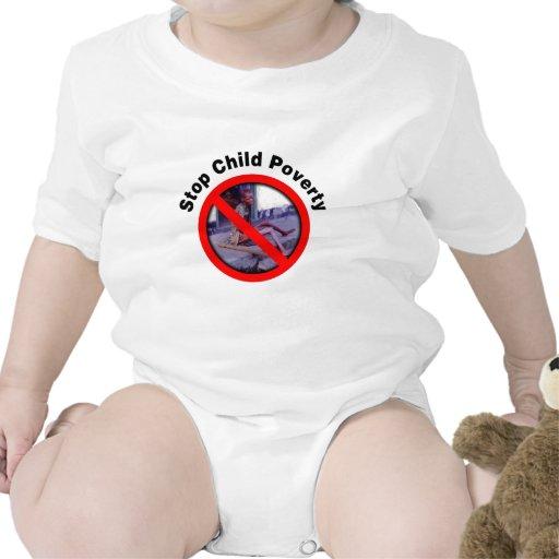 Pare la pobreza del niño traje de bebé