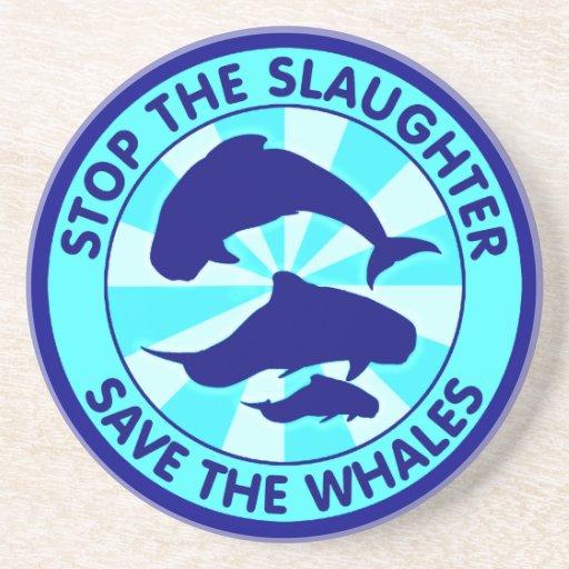 Pare la reserva de la matanza las ballenas posavaso para bebida