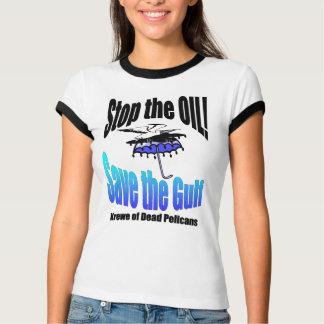 Pare la reserva del aceite la camiseta muerta del playeras