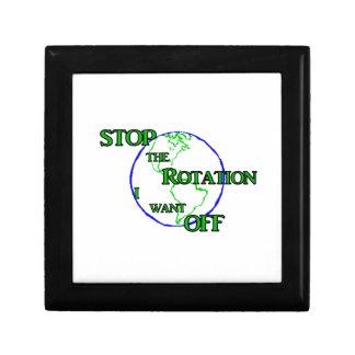 Pare la rotación caja de regalo
