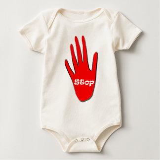 Pare la señalización traje de bebé