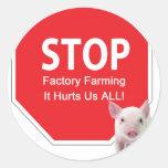 Pare la serie 1 de las granjas de la fábrica pegatina redonda