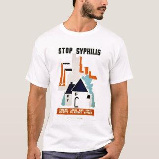 Pare la sífilis WPA 1940 Playera