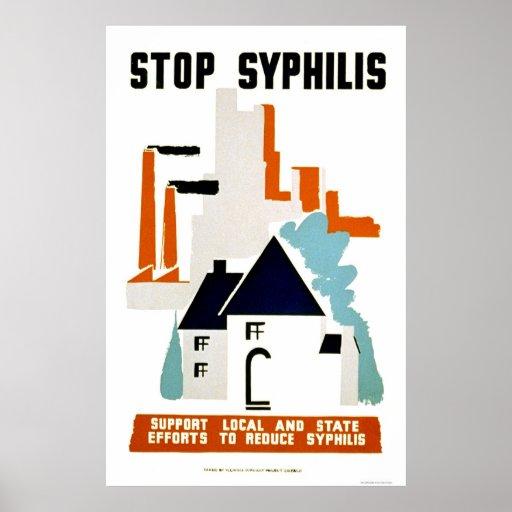 Pare la sífilis WPA 1940 Póster