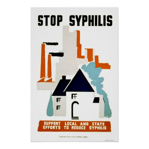 Pare la sífilis WPA 1940 Posters