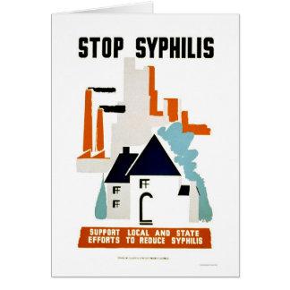 Pare la sífilis WPA 1940 Tarjeta De Felicitación