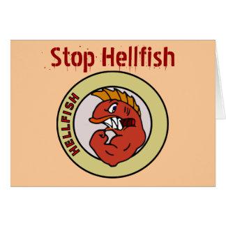 pare la tarjeta de felicitación de los infierno-pe